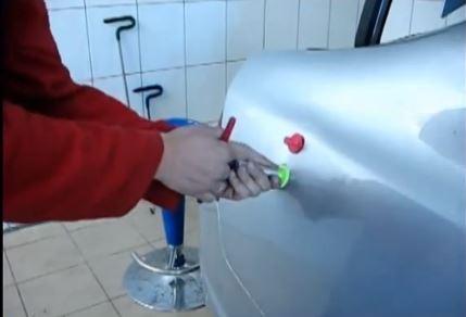 Удаление вмятин на авто своими руками